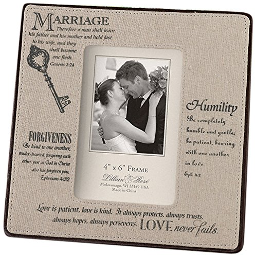 Lillian Rose Christian Photo Frame, 4 by 6-Inch