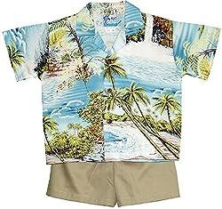 RJC Boys Paradise Island Surf 2pc Set Blue 6 months