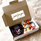 Lindt Just For You Chocolate Treat Box - Heart Tin, Truffles and Teddies - Romantic Love Gift Idea - By Moreton Gifts