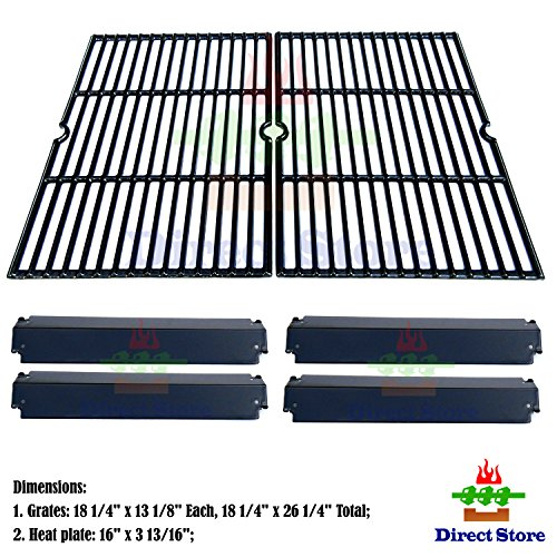 Direct store Parts Kit DG232 Replacement Charbroil, Kenmore , Coleman,Gas Grill Repair Kit Heat Plates & Cooking Grill (Porcelain Steel Heat Plate + Porcelain Cast Iron Cooking Grid) (Grill Grate Charbroil compare prices)