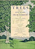 Vintage Sheet Music: TREES (Song, Medium in D) -- Dedicated to Mrs. L.L. Krebs (31228C)
