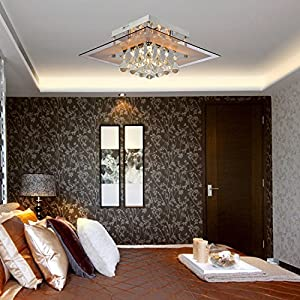 OOFAY LIGHT® Modern crystal ceiling light, Simple and elegant crystal light, 5-head crystal ceiling light for living room, Bedroom crystal ceiling light by OOFAY LIGHT