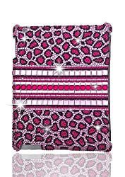 HOT HOT HOT!!! Jersey Bling® Pink Leopard Crystal Ipad Case for Models 2/3/4 with Rhinestones & Huge Gems ships with FREE 4