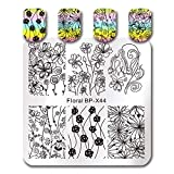 Summer Fruit Nail Art Stamping Template Tropical Punch Pattern Rectangle Image Plate Stamping Polish Needed BP-X44 (Color: BP-X44)