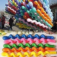 50 x Helium Latex Spiral Balloons Bir…