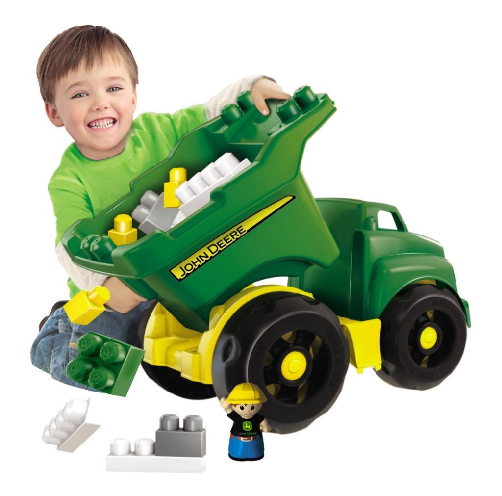Amazon Com Mega Bloks John Deere Dump Truck Toys Amp Games