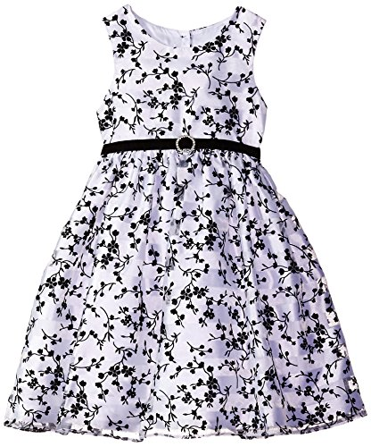 Marmellata Little Girls' Black and White Sparkle Party Dress