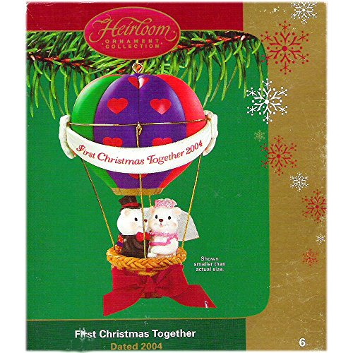Carlton Cards First Christmas Together Hot Air Balloon Newlywed Couple 2004 No. CXOR-006L