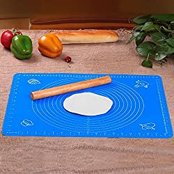 Ziaon (TM) Premium Extra Large Non-stick Silicone Baking Mat with Measurement, Large Reusable Non-stick Silicone Baking Mat/Pad with Measurements Non Stick,Non Slip,Pizza,Breads,Lasagna,and other Recipes & Desserts (19.7 * 15.7 * 0.04 inches)