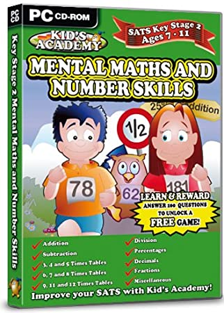 Kid's Academy - Key Stage 2 Mental Maths and Number Skills - 7-11 Years (PC CD)