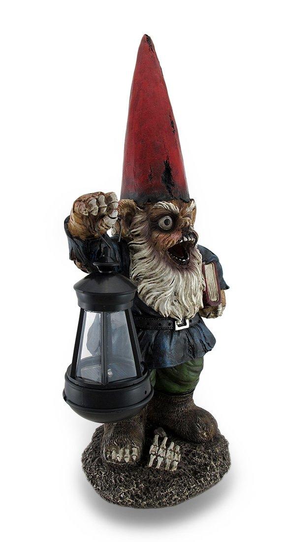 Walking Fred Zombie Gnome Solar Lantern Statue 17 in.