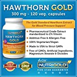 NutriGold Hawthorn Berry, 300 mg (180 Vegetarian Capsules) The Gold Standard in Hawthorne Berries Standardized Supplements