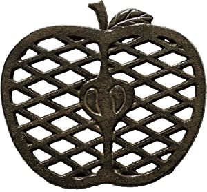 Cast Iron Trivet - Apple (Unique, Hand-crafted, Recycled; for Kitchen and Cooking) by Comfify