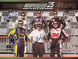 *6X AUTOGRAPHEDCarl Edwards Matt Kenseth Greg Biffle Ricky Stenhouse Jr. Trevor Bayne... by Trackside Autographs