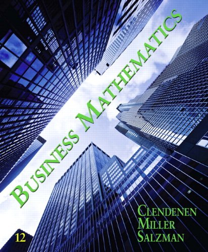 Business Mathematics plus MyMathLab with Pearson eText -