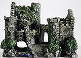 古城 アクアリウム 水槽 飾り オーナメント (グレー古城)