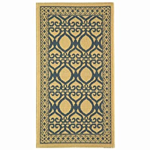 Safavieh Courtyard Collection CY3040-3101 Natural and Olive Indoor/Outdoor Area Rug, 2-Feet by 3-Feet 7-Inch