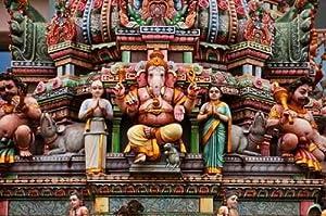 "Ganesh, Le Dieu éléphant Sur Un Temple Indien - 18""W x 12""H - Peel and Stick Wall Decal by Wallmonkeys"