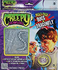 Creepy Crawlers Mold Pack Bugs and Dragonfly with Goop by Jakks Pacific