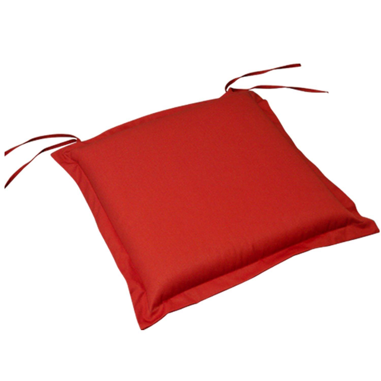 indoba® IND-70434-AUSK-2 - Serie Premium - Sitzkissen Gartenmöbel - extra dick, Rot - 2 Stück