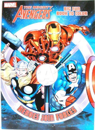 THE MIGHTY AVENGERS Coloring Book (A) by Dalmatian Press - 1