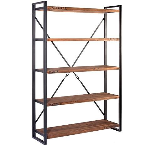Indhouse - Michigan Scaffale libreria in metallo e legno