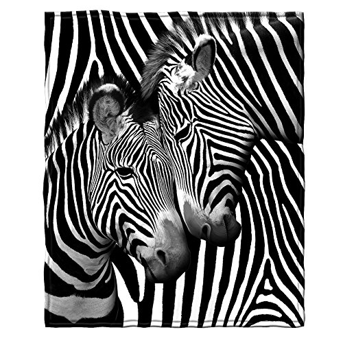 Zebra Fleece Throw Blanket