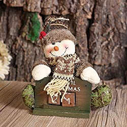 Christmas Countdown, Home Decor Living Room Christmas Crafts Snowman Xmas Decorations