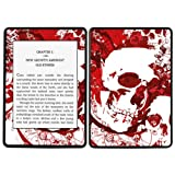 Diabloskinz Vinyl Adhesive Skin Decal Sticker for Amazon Kindle Paperwhite - Red Skull