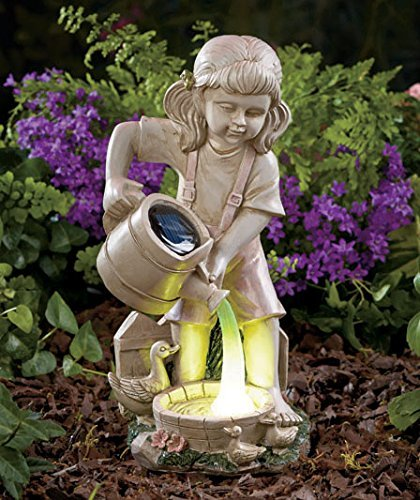 solar lighted watering fairy