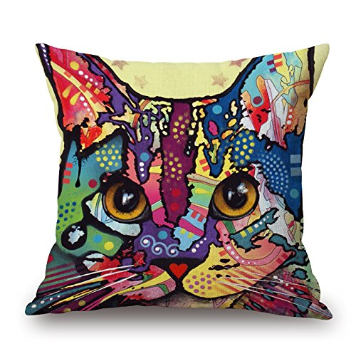 Elegancebeauty Cat Pillow Shams ,best For Festival,car,shop,home Office,him,drawing Room 16 X 16 Inches / 40 By 40 Cm(twin Sides) (Shark Tank Products Bed Bugs compare prices)
