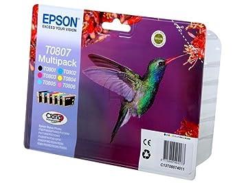 Epson Stylus Photo PX 820 FWD (T0807 / C 13 T 08074011) - original - Inkcartridge multi pack black cyan magenta yellow photocyan photomagenta - 510 Pages - 44,4ml