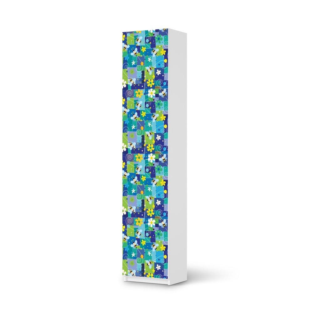 Möbel-Folie IKEA Pax Schrank 236 cm Höhe – 1 Tür / Design Schutz Flowers and Bees 2 / blasenfrei aufkleben jetzt kaufen