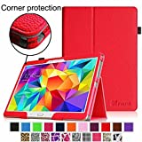 Fintie Samsung Galaxy Tab S 10.5 Folio Case - Slim Fit Premium Vegan Leather Cover for Samsung Tab S 10.5-Inch Tablet with Auto Sleep/Wake Feature, Red