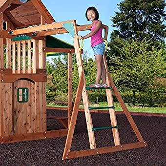 Backyard Discovery Saratoga All Cedar Wood Playset Swing Set Epic
