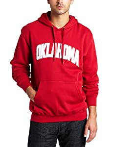 NCAA Mens Oklahoma Sooners Gameday Battle Bright Cardinal Long Sleeve Hooded Fleece Pullover By Majestic (Bright Cardinal, X-Large)