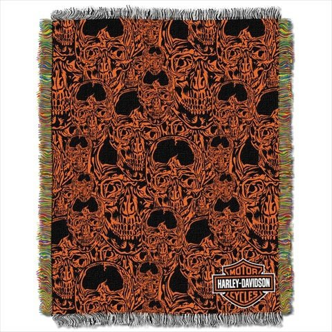 Skull Throw Blanket back-1078076