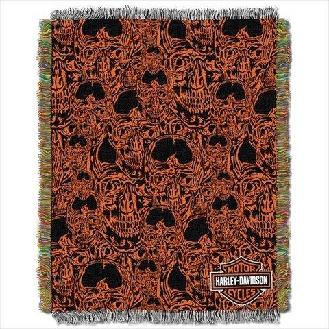 Skull Throw Blanket front-1078076