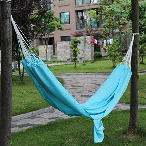 Portable Parachute Style Cloth Travel Outdoor Camping Garden Hammock blue color (Eagles Peak 6 Person Tent compare prices)