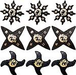 Ninja Rubber Throwing Stars Practice Foam Shuriken - Set of 9 from Sedroc Sports