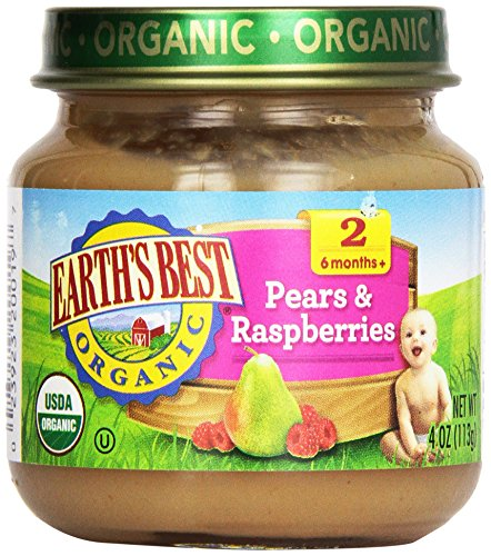 Earth'S Best, Pears And Raspberries, 4 Oz front-883152