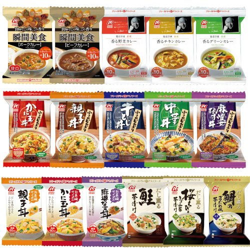 Amano foods freeze-dried food both delicious ingredients 16 food set (3 / small bowl 5 / Teacup size Bowl 3 / Curry 5 species)