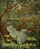 Lady in the Garden Poster Print by Claude Monet (24 x 36)