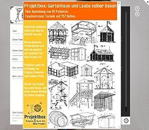 Gartenhaus und Laube selber bauen: Deine Projektbox inkl. 757 Seiten Original-Patente bringt Dich mit Spaß ans Ziel!