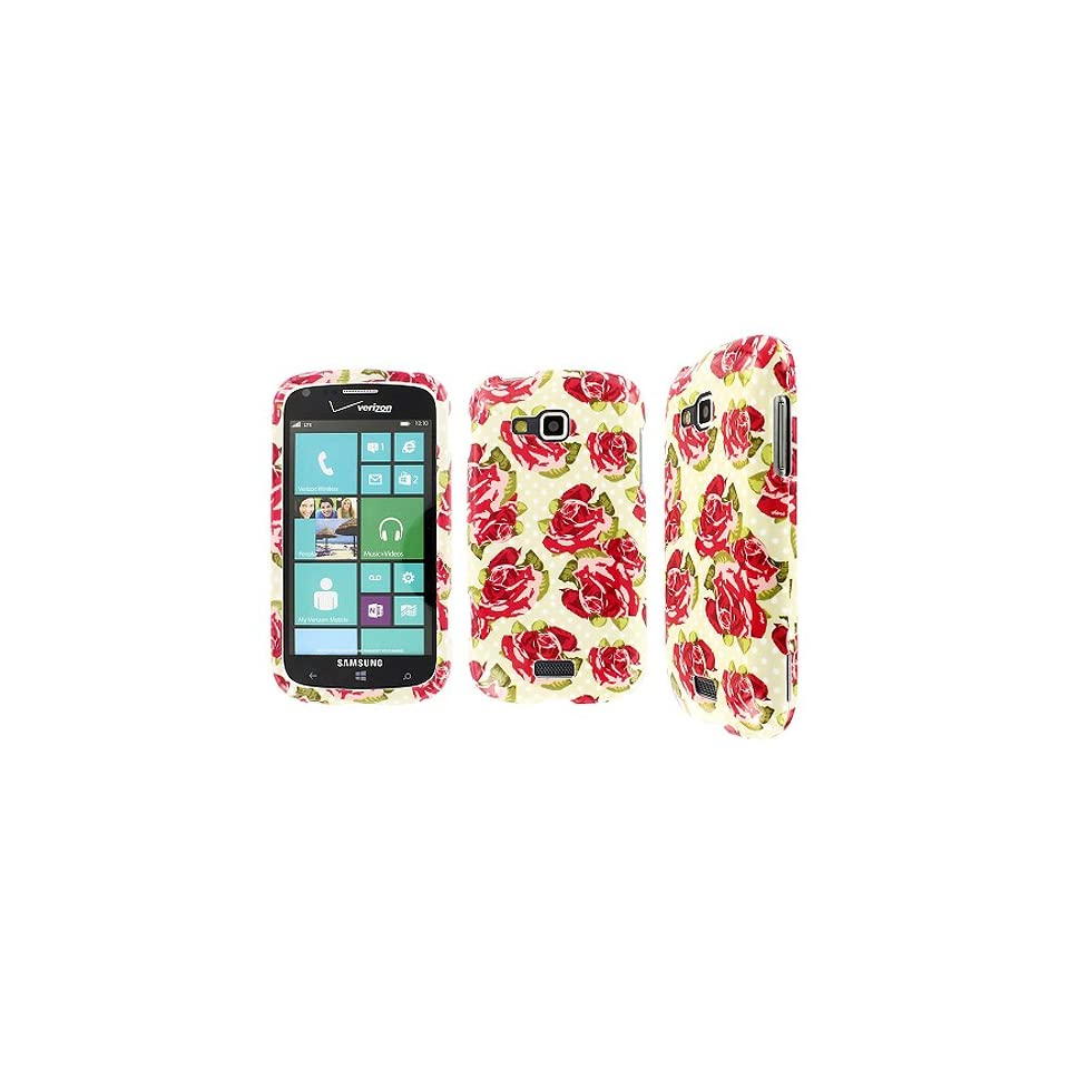 Red Pink Flower Polka Dot Hard Case Cover for Samsung ATIV Odyssey SCH I930 Cell Phones & Accessories