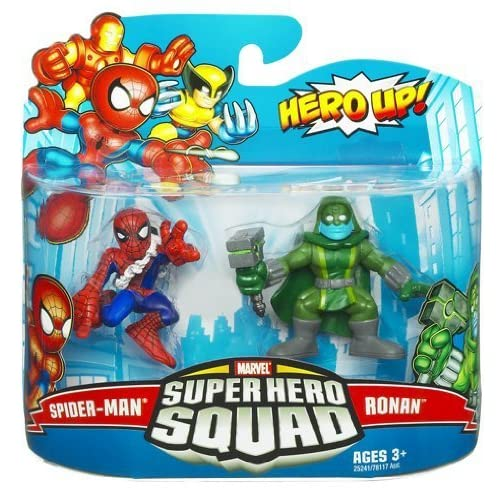 Marvel Super Hero Squad Spider-Man & Ronan Action Figure 2-Pack by Hasbro Inc (English Manual)
