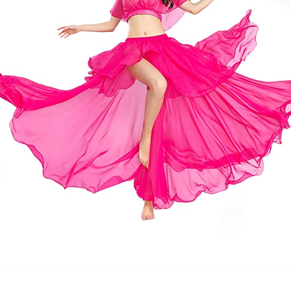 Belly Dance Tops for Women One Size ROYAL SMEELA Belly Dance Costume for Women Chiffon Belly Dance Tops
