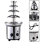 4 Tiers Commercial Stainless Steel Hot New Luxury Chocolate Fondue Fountain New ;#G344T3486G 34BG82G45454