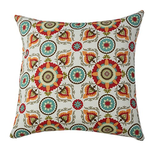 Rizzy Home Tfv025 Prefilled With Knife Cut Edges Printed On Both Sides Decorative Pillow, 22 By 22-Inch, Prima