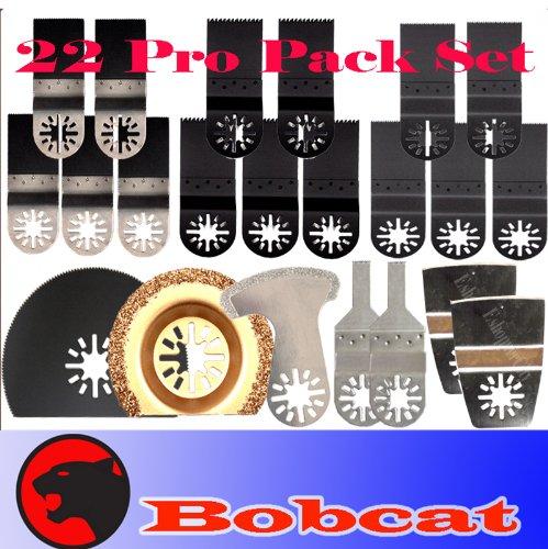 22 Pcs Pro Pack Combo Japan Tooth Bim Carbide Diamond Standard Cut Oscillating Multi Tool Saw Blade For Fein Multimaster Bosch Multi-X Craftsman Nextec Dremel Multi-Max Ridgid Dremel Chicago Proformax Blades